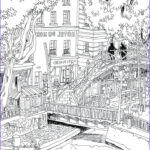 Architecture Coloring Book Luxury Collection Hotel Dunord Coloring Page