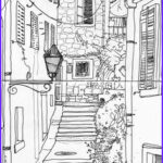 Architecture Coloring Book New Stock 1000 Images About Adult Colouring Buildings Houses