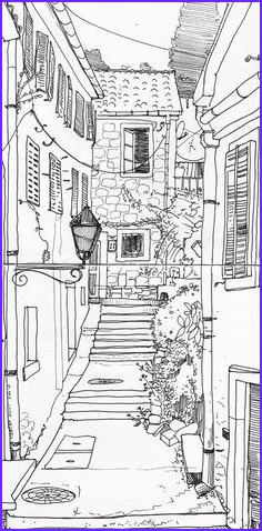 adult colouring buildings houses cityscapes land