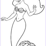 Ariel Coloring Awesome Image Mermaid Free Coloring Pages