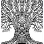 """Art Coloring Book For Adults Beautiful Photos """"tree Of Life"""" Doodle Art Free Adult Coloring Page"""