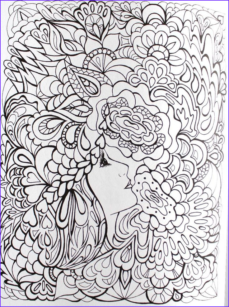 fanciful faces coloring for adults art pages