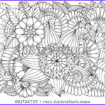 Art Therapy Coloring Book Luxury Gallery Doodle Floral Drawing Art Therapy Coloring Stock Vector
