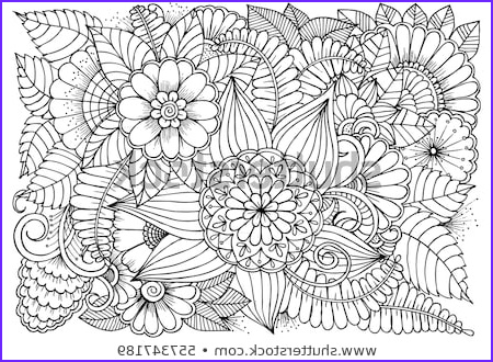 doodle floral drawing art therapy coloring