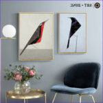 Art Zone Coloring Poster Elegant Image Art Zone Abstract Bird Animal Painting Color Geometric