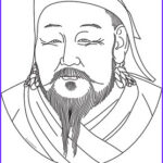 Artzone Coloring Posters Beautiful Images Kublai Khan Clip Art Coloring Page Or Mini Poster By