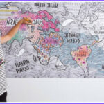 Artzone Coloring Posters Best Of Collection World Map Coloring Poster Wall Art To Color Giant Size