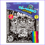 Artzone Coloring Posters New Photos Day Of The Dead Velvet Coloring Posters