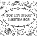 Autumn Coloring Sheets Beautiful Collection Thank You God for Autumn Coloring Page