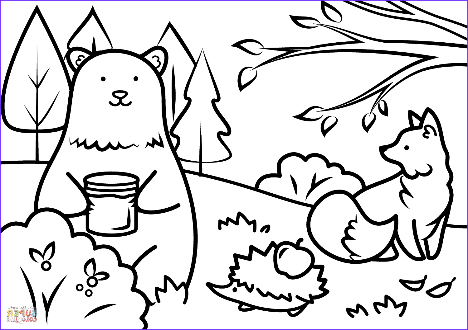 Autumn Coloring Sheets Best Of Image Autumn Animals Coloring Page