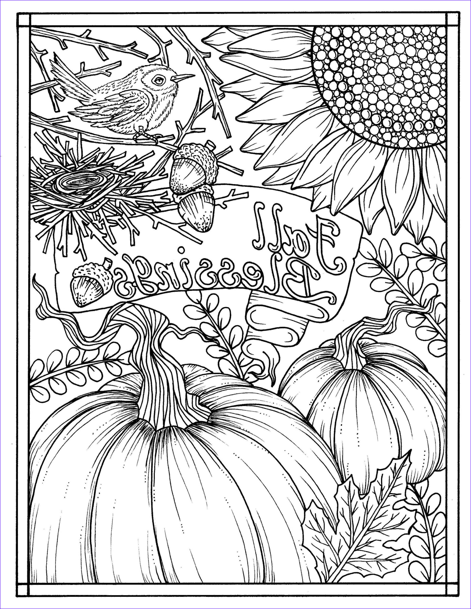 Autumn Coloring Sheets Unique Photos Download Fall Blessings Instant Digital Coloring Page