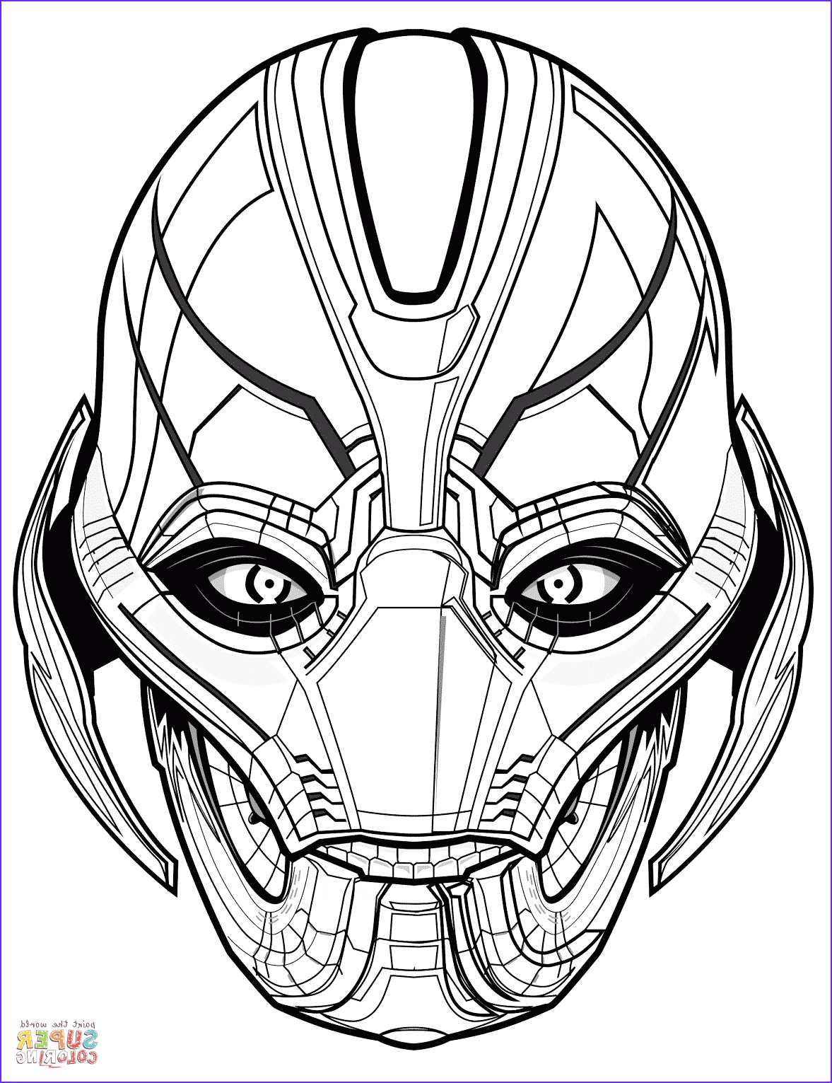 Avengers Coloring Awesome Collection Avengers Ultron Coloring Page