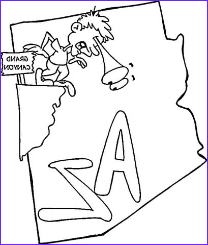 Az Coloring Pages New Image Arizona Map Coloring Page