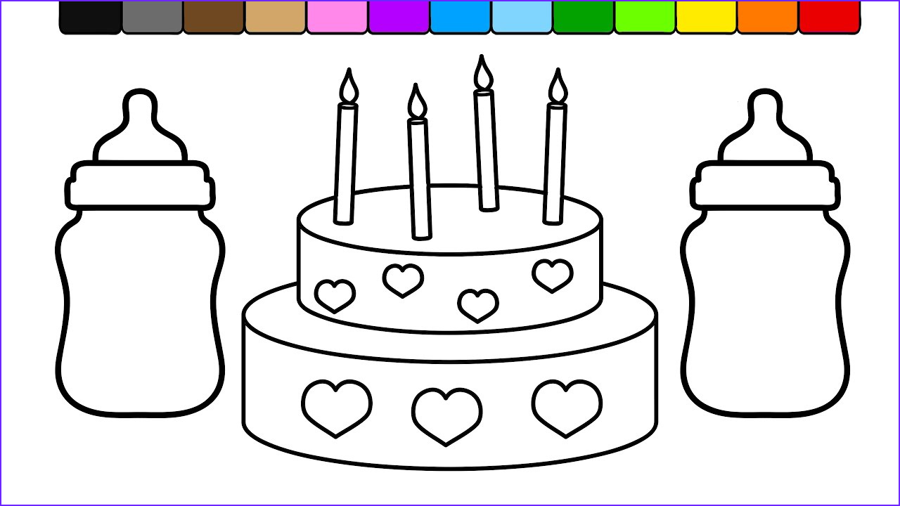 Baby Bottle Coloring Page Beautiful Stock Learn Colors for Kids and Color This Baby Bottle Heart