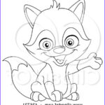 Baby Fox Coloring Page Beautiful Collection Royalty Free Rf Clipart Illustration Of An Outlined Cute