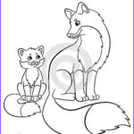 Baby Fox Coloring Page Beautiful Image Coloring Pages Wild Animals Mother Fox With Her Little