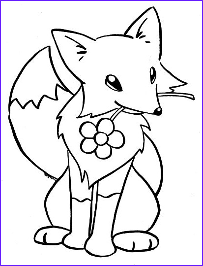 Baby Fox Coloring Page Cool Photos Cute Baby Fox Coloring Pages Part 2