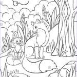 Baby Fox Coloring Page Inspirational Collection Coloring Pages Wild Animals Mother Fox Stock Vector