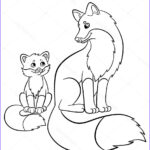 Baby Fox Coloring Page Luxury Photos Coloring Pages Wild Animals Mother Fox With Her Little