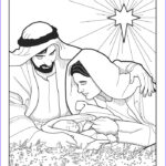 Baby Jesus Coloring Page Beautiful Images Baby Jesus In Manger In Colour Coloring Pages