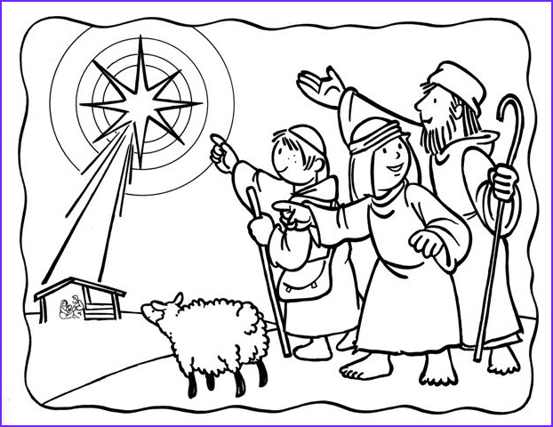 Baby Jesus Coloring Page Beautiful Images Shepherds See the Star