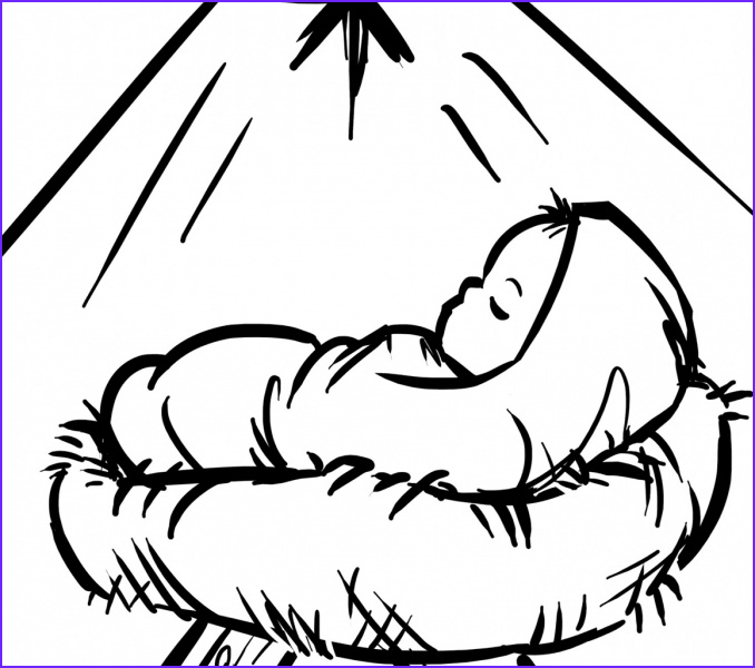 Baby Jesus Coloring Page Inspirational Collection Baby Jesus Coloring Pages Best Coloring Pages for Kids