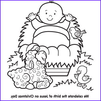 baby jesus coloring pages