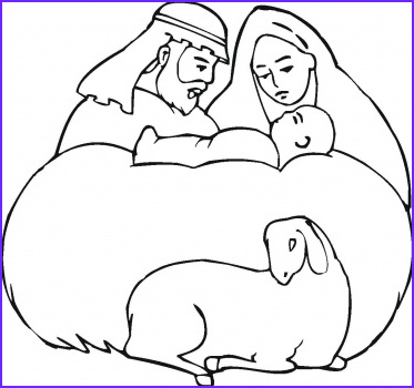 baby jesus coloring pages for kids