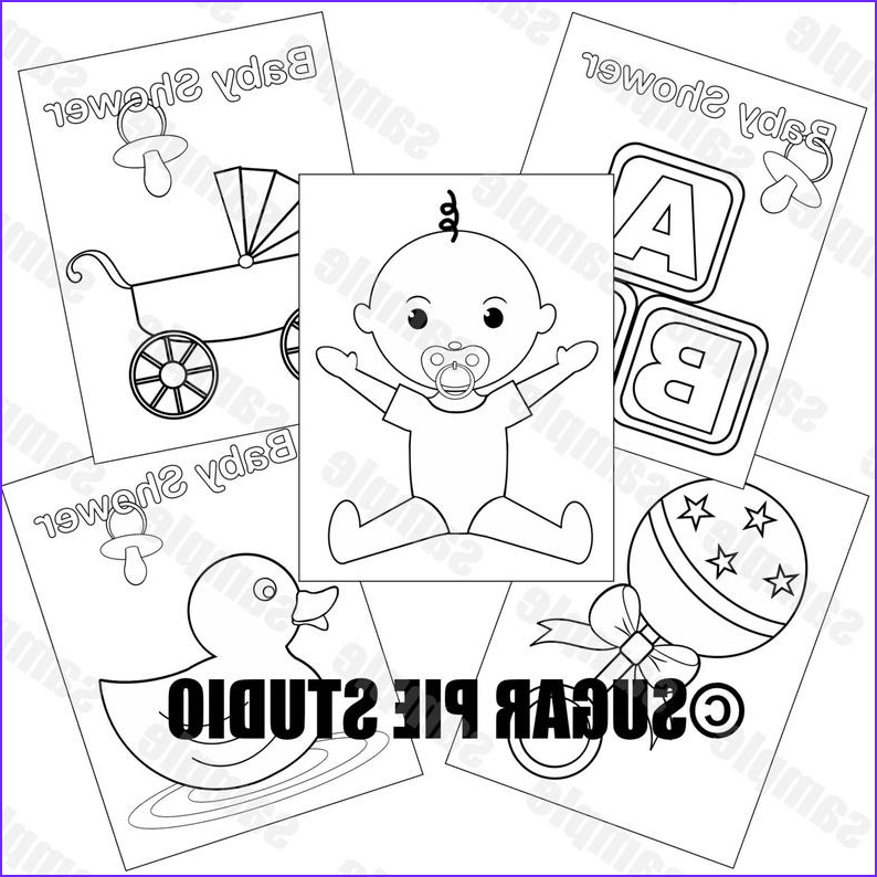 baby shower coloring pages neutral baby