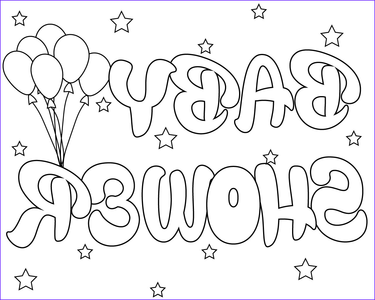 Baby Shower Coloring Cool Image Free Printable Baby Shower Coloring Pages