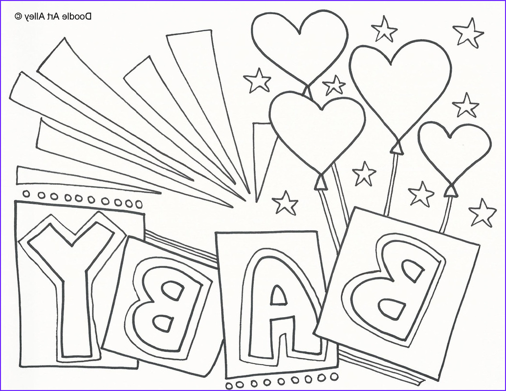 Baby Shower Coloring Cool Images Baby Shower Coloring Pages for Kids Gallery