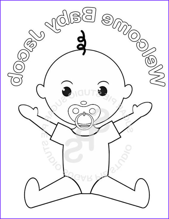 Baby Shower Coloring Cool Photography Personalized Printable Baby Shower Favor Childrens Kids