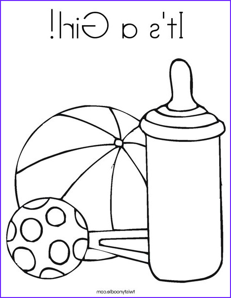 its a girl coloring page