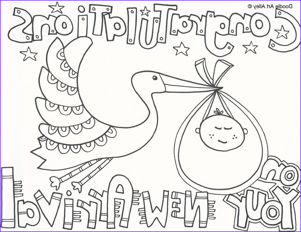 free printable baby shower coloring pages