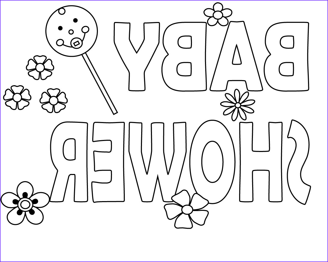 Baby Shower Coloring New Photography Free Printable Baby Shower Coloring Pages