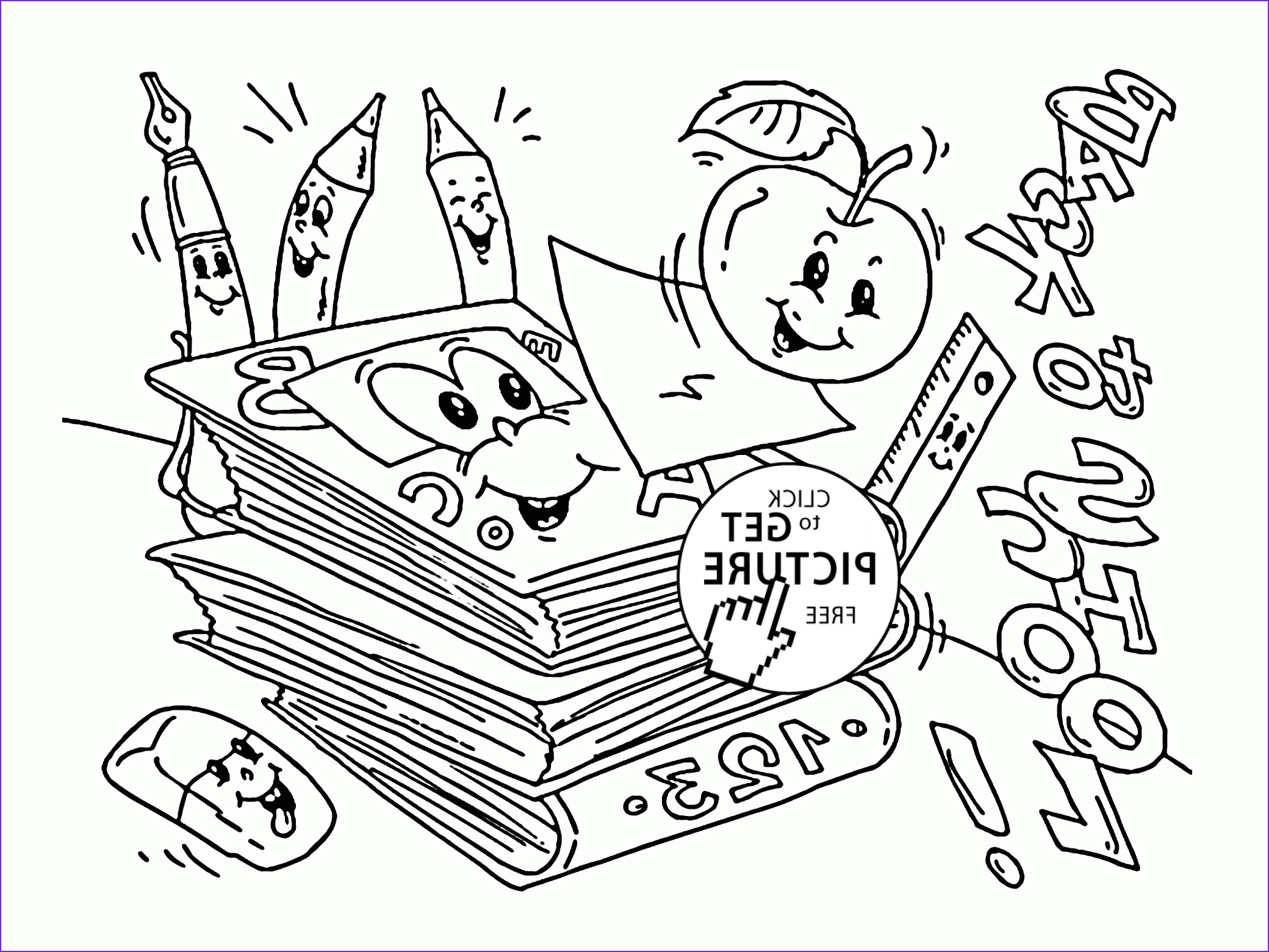 wel e back to school coloring pages