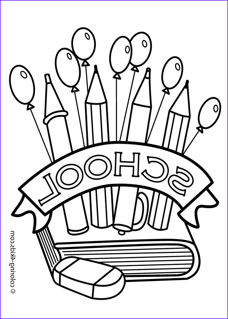 Back to School Coloring Pages Cool Photos Back to the School Coloring Page Classes Coloring Page