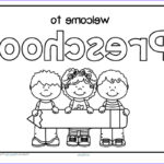 Back To School Coloring Pages For Preschool Beautiful Collection Free Back To School Wel E Poster For Preschool