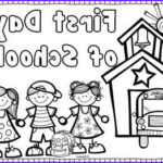 Back To School Coloring Pages For Preschool Beautiful Photos Back To School Coloring Page Freebie