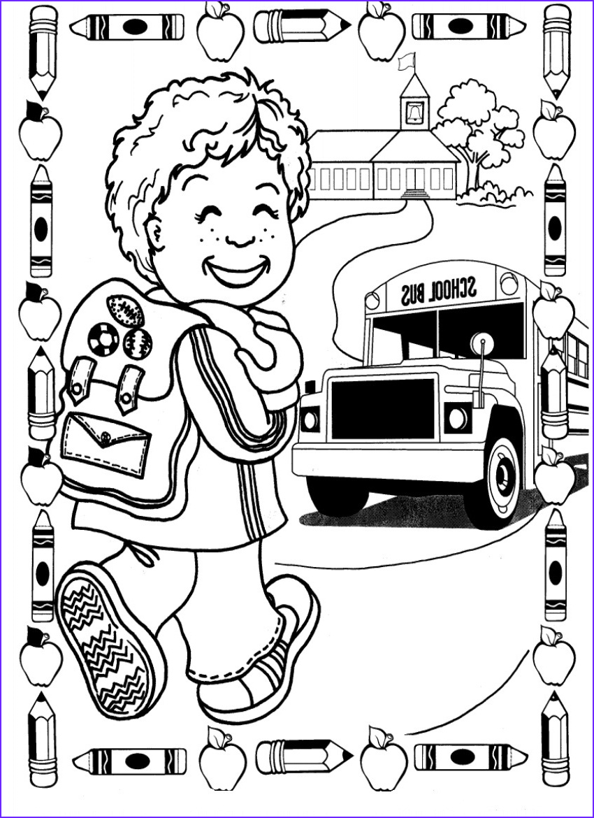 back school coloring pages