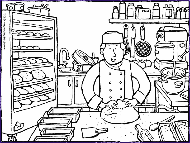 Baking Coloring Pages Luxury Stock Cooking themed Colouring Pages Kiddi Kleurprenten