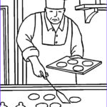 Baking Coloring Pages New Image Professional Chef Baking Cookies Coloring Pages Best