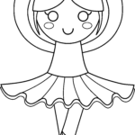 Ballerina Coloring Pages Beautiful Images Cute Ballerina Coloring Page Free Clip Art