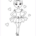 Ballerina Coloring Pages Beautiful Stock Ballerina Drawings Ballerina Coloring Pages