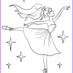 Ballerina Coloring Pages Cool Collection Beautiful Ballerina Coloring Page