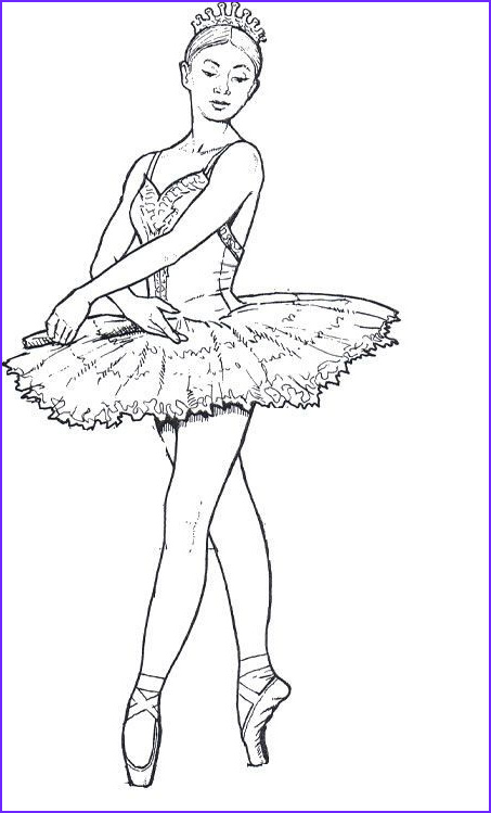 Ballerina Coloring Pages Cool Stock Ballet Dancers Coloring Pages for Teenagers and Adults