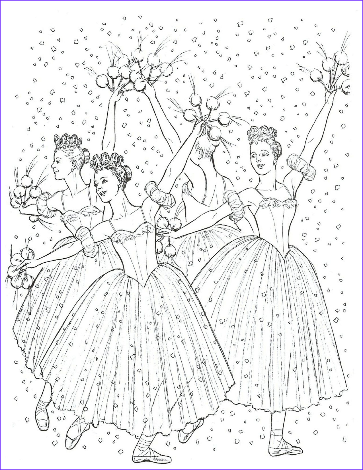 coloring pages for young dancers