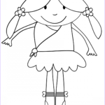 Ballerina Coloring Pages New Gallery Cute Cartoon Ballerina Coloring Page