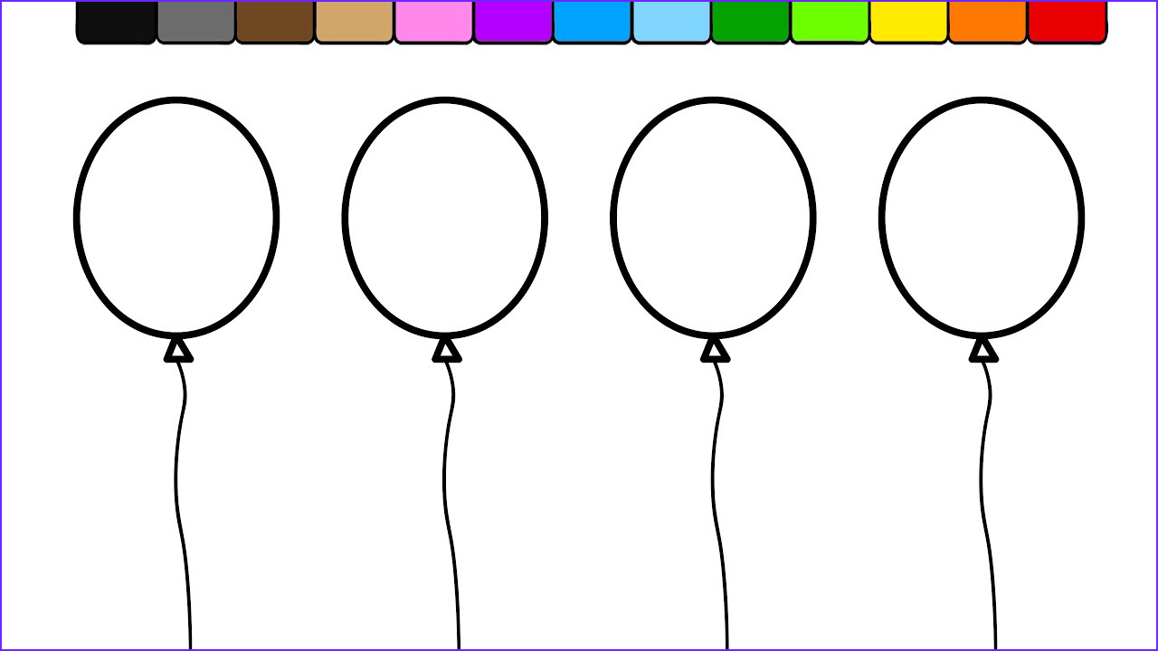 Balloon Coloring Pages Awesome Photos Learn Colors for Kids and Color This Balloon Coloring Page