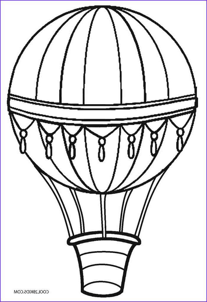 Balloon Coloring Pages Beautiful Photos Printable Hot Air Balloon Coloring Pages for Kids
